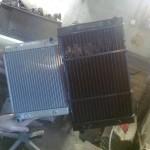 справа Изготовленный новый радиатор увеличенной теплоотдачей на снегоход